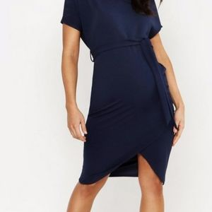 Maternity Tie Waist Midi Dress